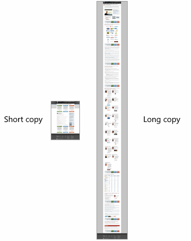 long and short copy