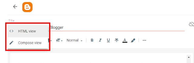 HTML mode Blogger