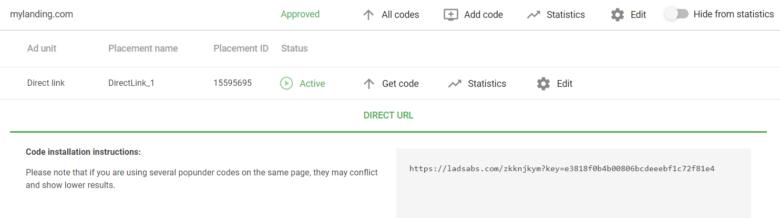 Smart Direct Link Code
