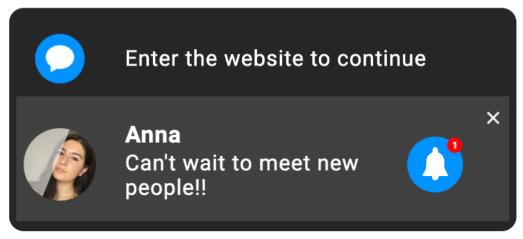 Social Bar interactive chat invitation