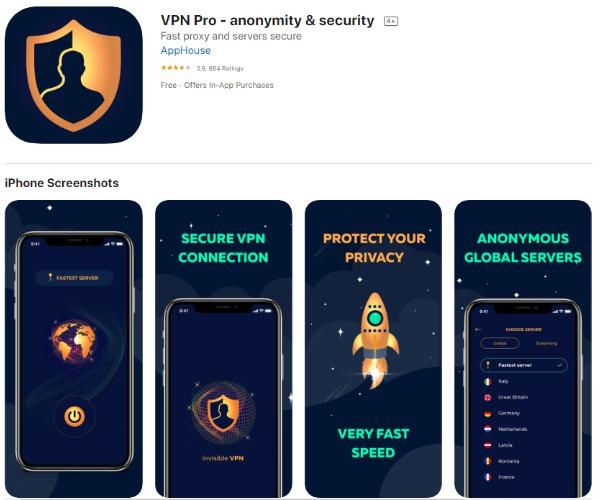 VPN offers on Social Bar