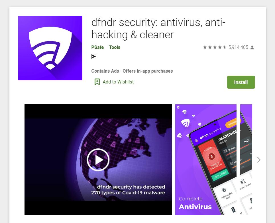 Screenshot of an Antivirus Utility landing page