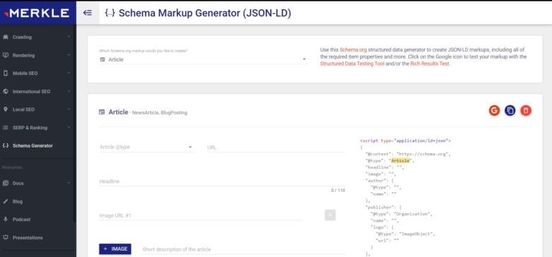 Merkle's Schema Markup Generator (JSON-LD)