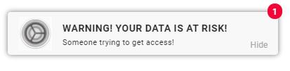 Push notification VPN