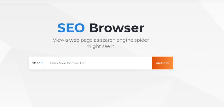 SEO browser main menu