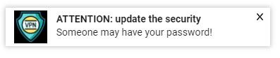 VPN notification