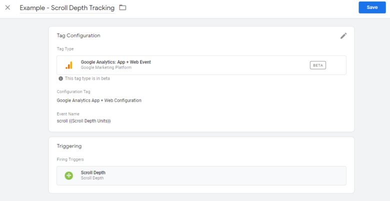 Google tag manager scroll depth tracking