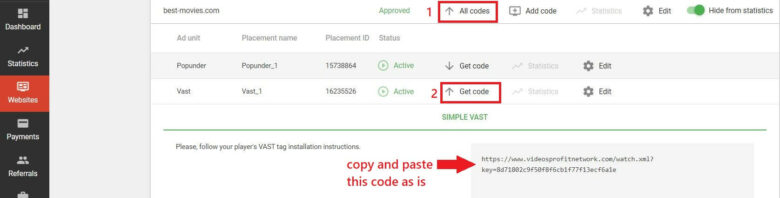 VAST code approved