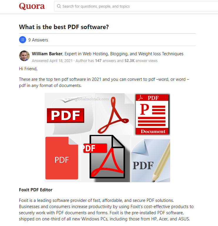 What is the best PDF software Quora article