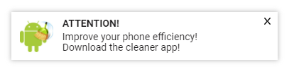 phone cleaner in page push