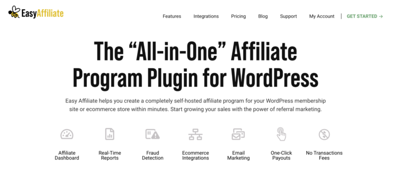 Easy Affiliate home page