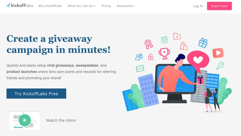 Kickoff labs home page