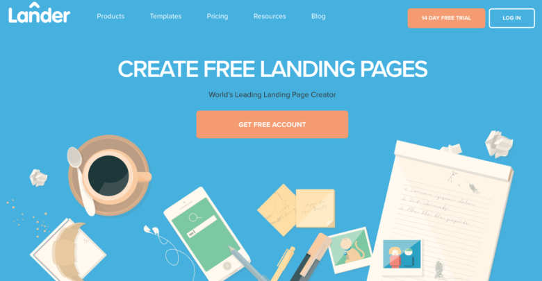 Lander home page