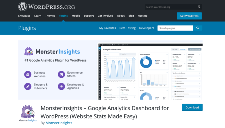 MonsterInsights home page