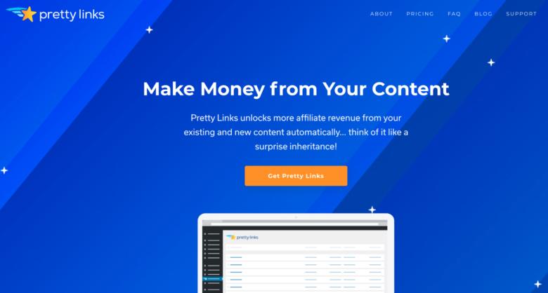 Pretty Links home page