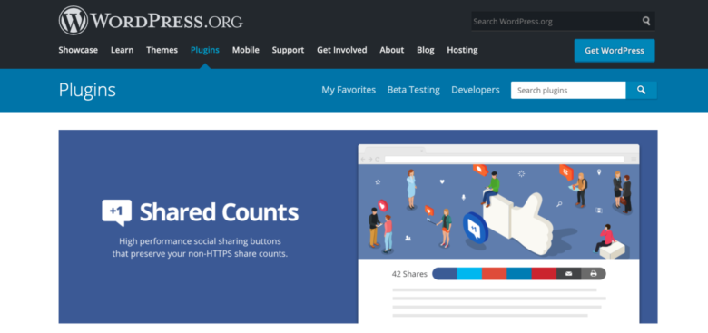 Shared Counts home page
