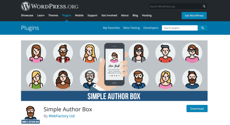 Simple Author Box home page
