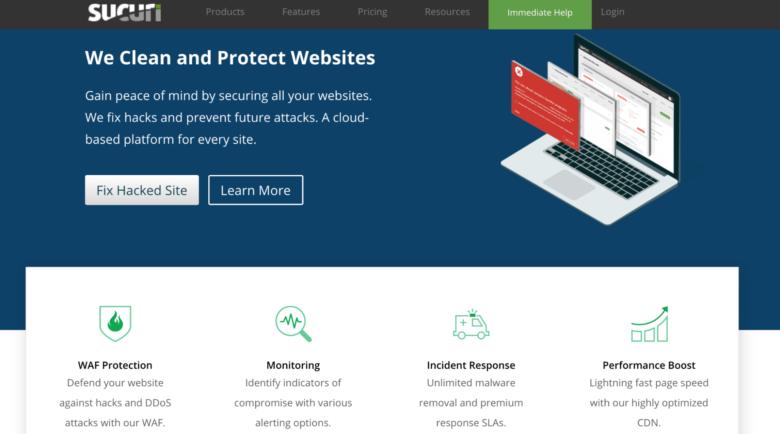 Sucuri home page