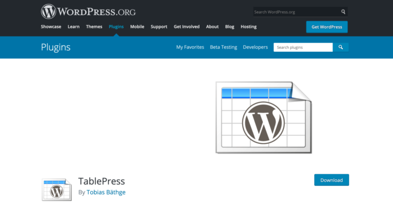 TablePress home page