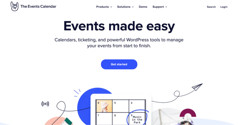 The Events Calendar home page