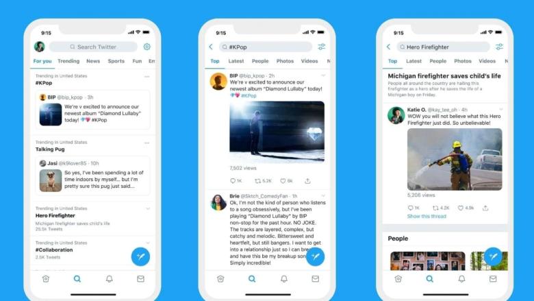 Twitter trends screenshots