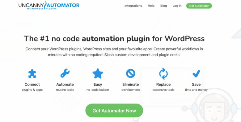 Uncanny Automator home page
