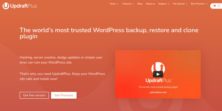 UpdraftPlus home page
