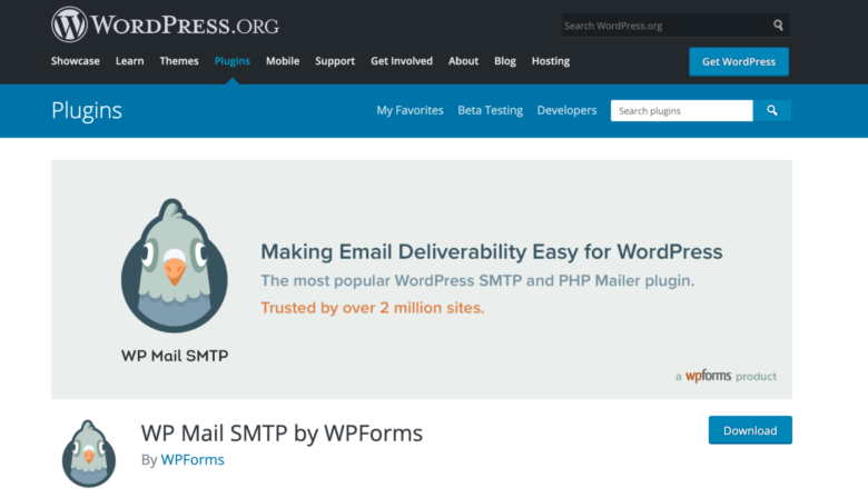WP Mail SMTP home page