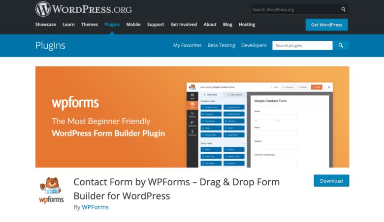 WPForms home page