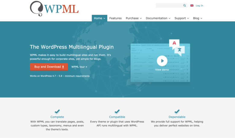 WPML home page