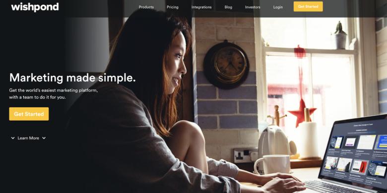 Wishpond home page