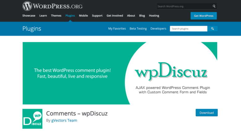 wpDiscuz home page