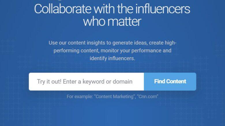 BuzzSumo home page slogan