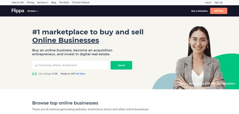 Huge Domains home page
