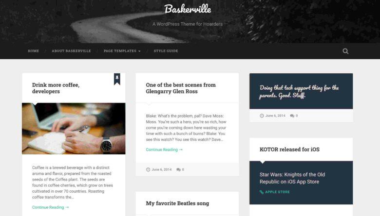 baskerville-WP-theme