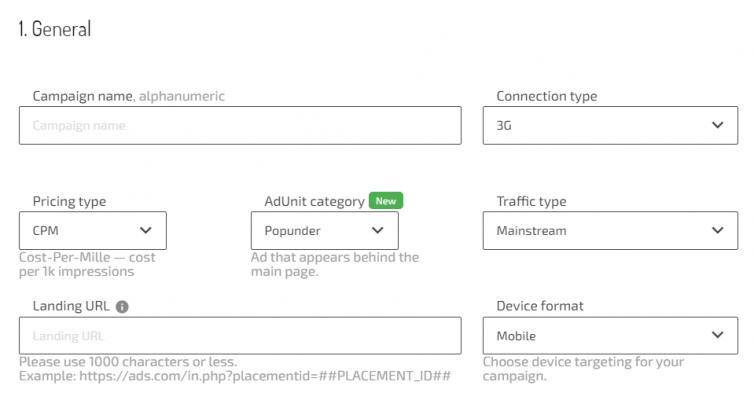 3g connection type on Adsterra platform