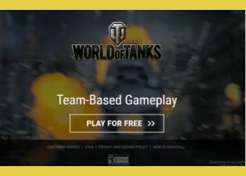 Popunder_World of Tanks offer