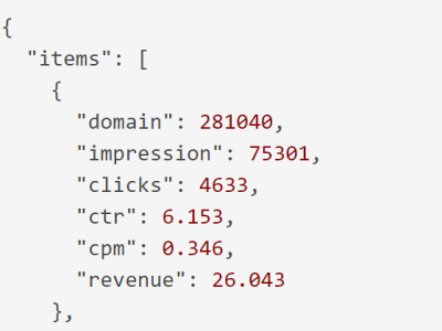 Stats grouped by domain